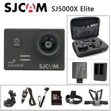 Envío libre!! Original SJCAM SJ5000X Elite WiFi 4 K 24fps 2 K 30fps Gyro Cámara de Deportes de Acción + + Cargador de Batería Adicional 1 unids Batería