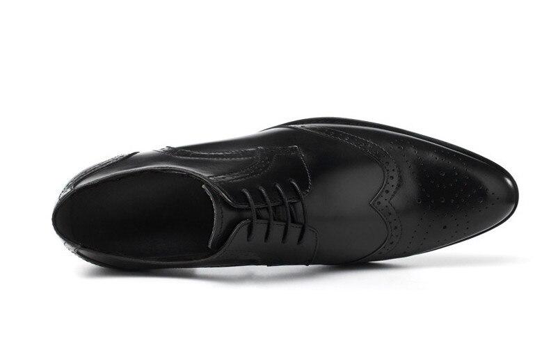 as Misturada Dos Genuíno Homens De Apontou Esculpido Qualidade Alta Vestido Personalidade Pic Artesanal Couro Dedos Sapatos Confortáveis As Pic Cor Sapatas fHCwPqnHY