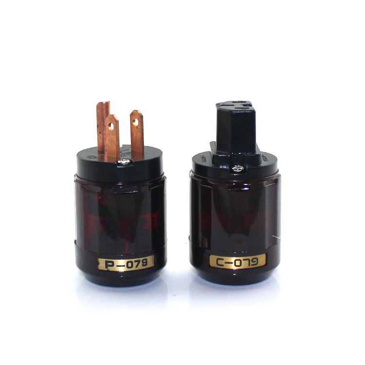 New Gold Plated P-079 + C-079 IEC US Power Plug Connector