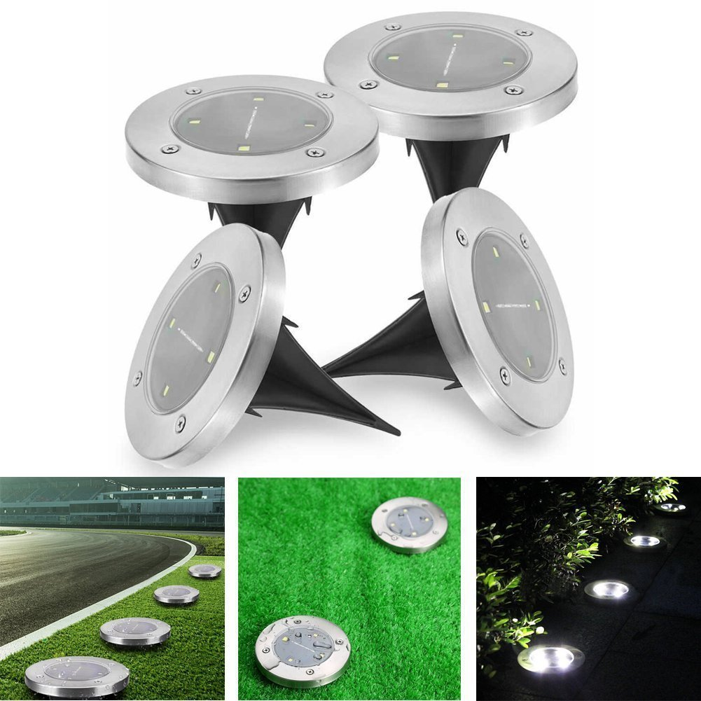 2 4 8 LED Sensor Buried Ground Garden Outdoor Solar Light IP65 Waterproof Night Landscape Lawn Lamp For Yard Pathway Driveway yunlights solar ground lights waterproof 5 led landscape path light walkway lamp for home garden yard driveway lawn