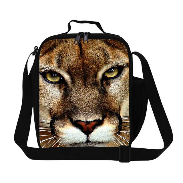 2016 Hot Children Tiher Head 3D Print Lunch Bag Animal Thermal Insulated Lunch Box For Food Mens Meal Package For Office Hot