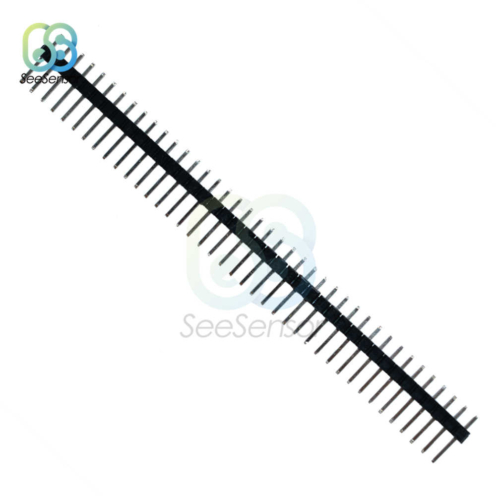 10 Pcs 40Pin 1X40 P 2.54 Mm MALE Pecah Satu Baris Pin Header Strip Konektor UNTUK ARDUINO
