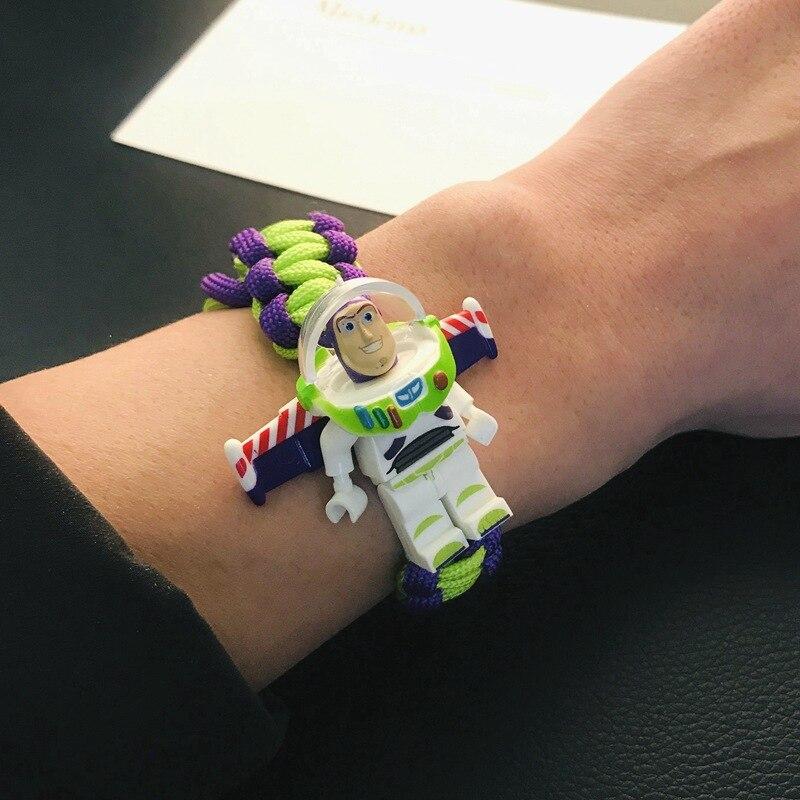 Toy Story Buzzs Lightyear Armband Aangepaste Super Hero Figuur Iron Man  Vader Eenhoorn Man Bouwstenen Bricks Bracelet