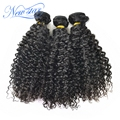 3 pieces/lot new star hair brazilian virgin human hair extension Brazilian kinky curly hair weaving double weft free shipping