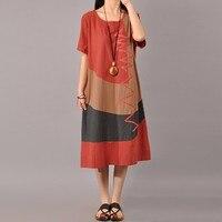 ZANZEA Hot Sale Women Splice Dress 2017 Summer Ladies Short Sleeve Vintage Sexy Casual Loose Dresses