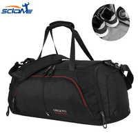 Scione Terylene, bolso deportivo informal para hombre, para Fitness, con zapatos, bolsillo, bolso De viaje, bolso De hombro, Bolsa De Deporte