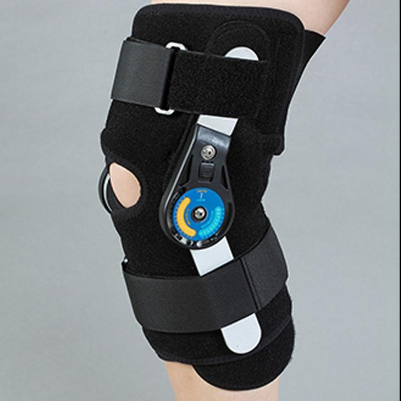 Adjustable Ultra <font><b>knee</b></font> brace support Bilateral Hinges Hinged Medical <font><b>Knee</b></font> Brace Patella Compression Kneepad Orthotic Devices