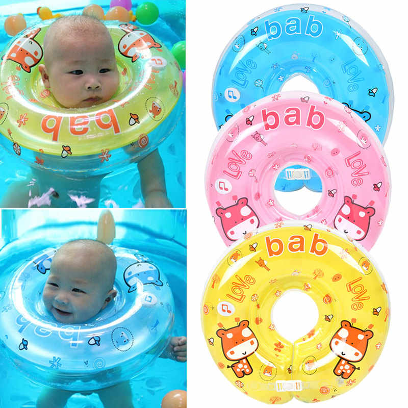 NEW Baby Swimming Neck Float Inflatables Ring Adjustable Safety Neck Circle Baby Bathing