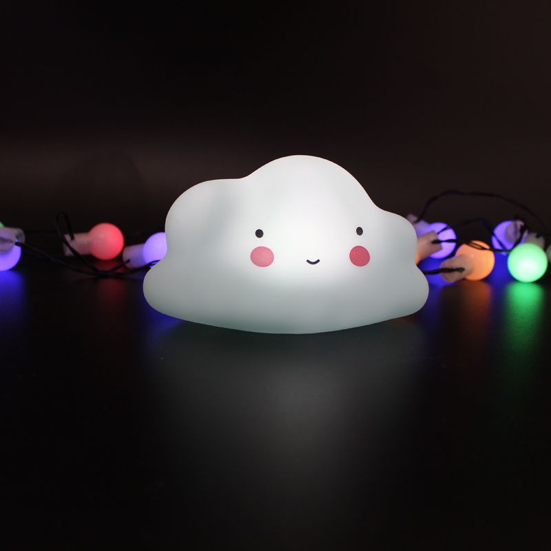 Originality Cloud Moon Sun Star LED Small Night Light Soft Plastic Toy Room Decoration Desk Lamp Wall Lamp Present ZQ-TJ015