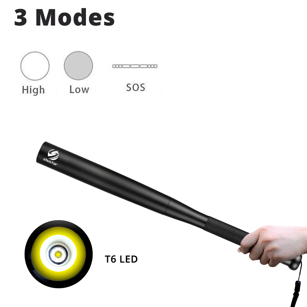 Image 2 - Baseball Bat LED Flashlight T6 LED torch super bright baton for Emergency and For self defense,outdoor lighting-in LED Flashlights from Lights & Lighting