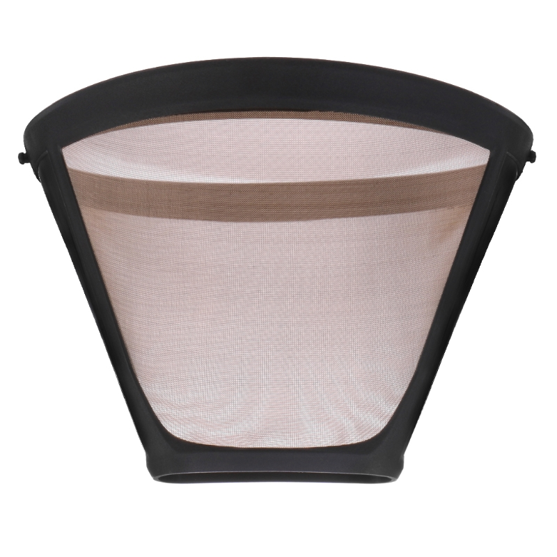 Stainless Steel Cone Shaped Permanent Coffee Filter Handles Washable Cafe Tools essential accessory in Coffee Filters from Home Garden