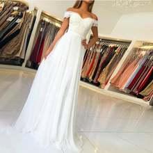 Weilinsha дешевое свадебное платье с открытыми плечами кружевное