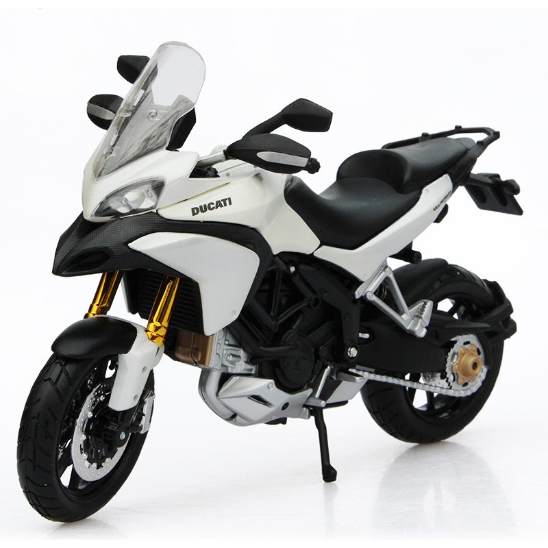 MAISTO DMH MULTISTRADA 1200S White Motor Model 1:12 scale Motorcycle Diecast Metal Bike Miniature Race Toy For Gift Collection
