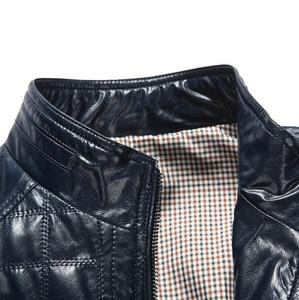 Image 5 - Autunno caldo di Inverno dei Nuovi Uomini di Stile di Cuoio Giubbotti Plaid in Cotone Coreano Casual abbigliamento In Pelle Mens Cappotti Giacca moto