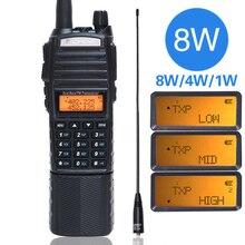 Baofeng UV 82 plus 8watts poderosa 8W Rádio dual band Walkie Talkie 3800 mAh Portátil 10km de longo alcance handheld pofeng UV82