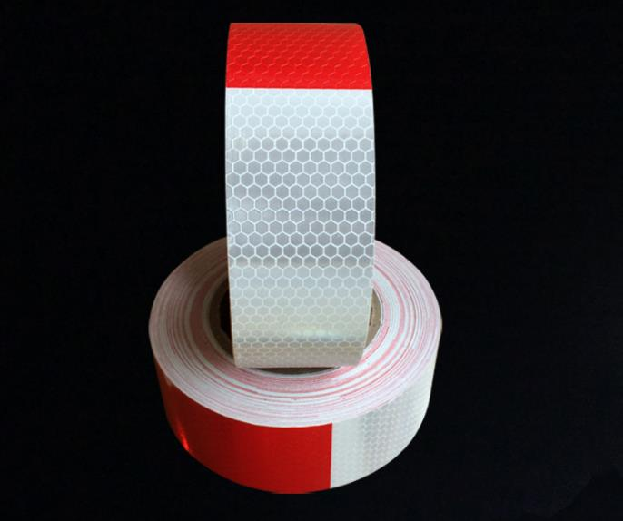 5cm*45m Self-adhesive PVC Reflective Warning Safety Tape Truck Road Traffic Construction Site Reflector