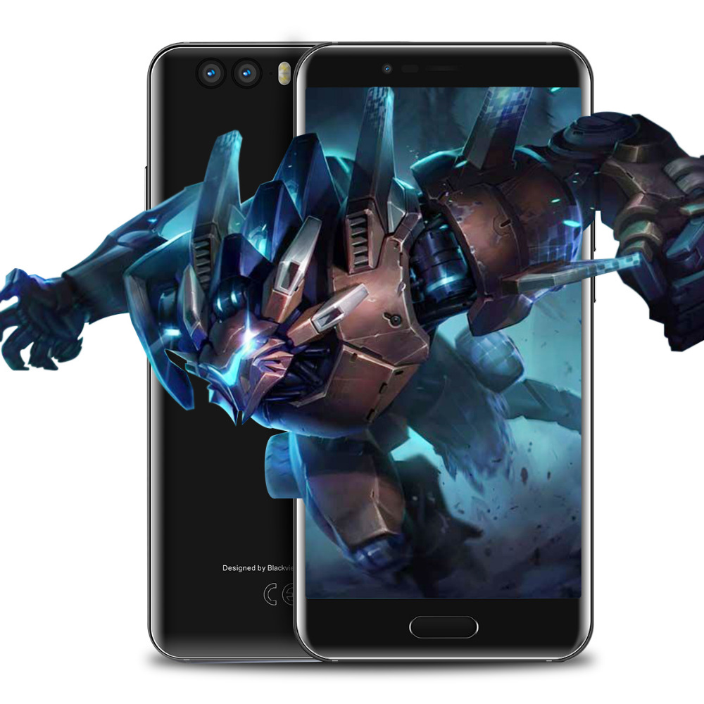 Blackview P6000 6GB RAM 64GB ROM Face ID Smartphone Helio P25 6180mAh 5.5 inch 21MP Dual Rear Cameras Android 7.1 Mobile phone
