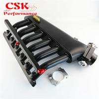 Black Intake Manifold +Throttle body+ Fuel Rail Kits Fits For BMW E36 E46 M50 M52 M54 325i 328i 323i M3 Z3 E39 528i