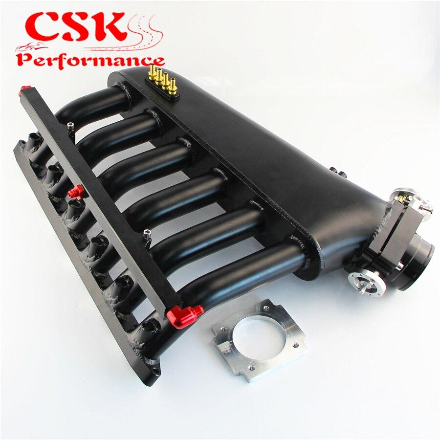 Czarny kolektora dolotowego + korpus przepustnicy + magistrala paliwowa zestawy pasuje do BMW E36 E46 M50 M52 M54 325i 328i 323i M3 Z3 E39 528iKolektor dolotowy   -