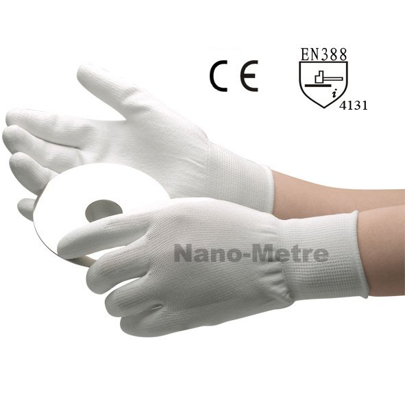NMSAFETY 13 Gauge Knit Anti Static Gloves,Fashion White Esd Work Gloves