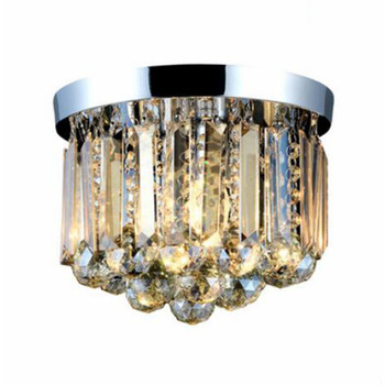 Modern crystal chandelier Cognac/Clear crystal chandelier  stainless steel base Foyer Small style lights E14 LED lamp