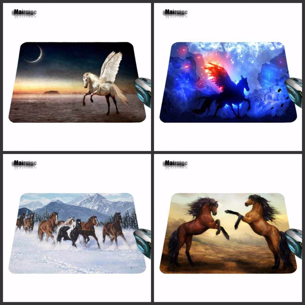 Mairuige 180X220X2mm Splendid Horse Customized Mouse Pad Computer Notebook Laptop Equipment Decor and Gaming Mouse Mat