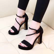 2018 Fashion Women Sandals High Heels Women Summer Thin Heel Ladies Dress Wedding Open Toe Black Sandal Pumps Shoes CH-B0073 цены онлайн
