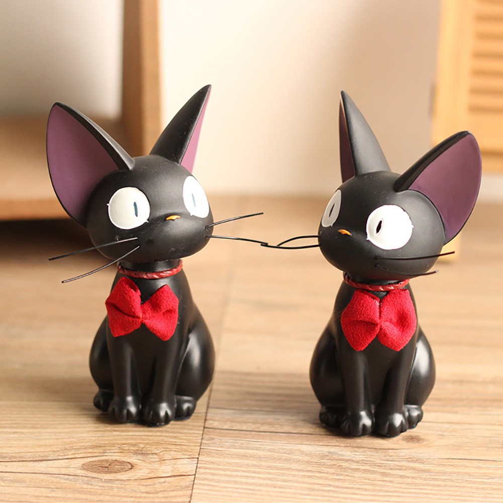 Car Ornaments Resin Cute Swinging Shaking Head Cat Doll Auto Dashboard Decoration Toys Cat Figurine Home Desk Decor Accessories