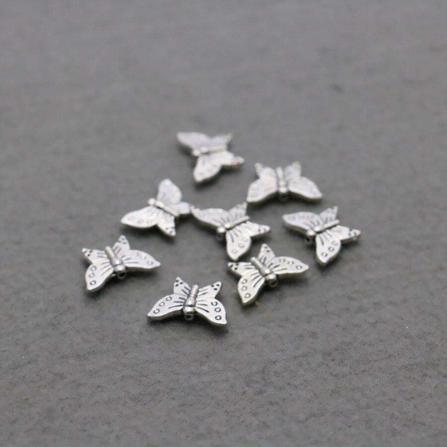 Breloques, bracelets breloques Sterling Silver 12x16mm Violet Émail Papillon Cristal Charme Anneau à Ressort Fermoir