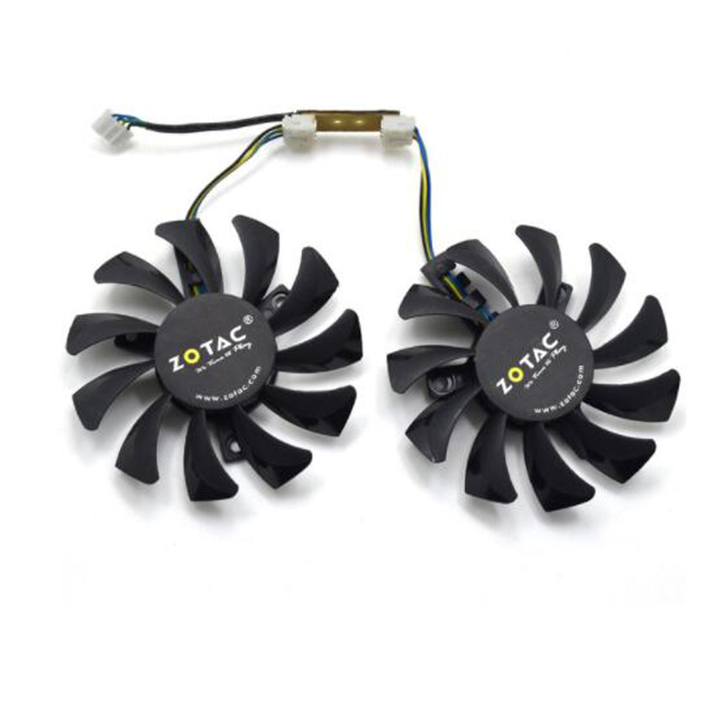 Apistek 75mm GA81S2U DC 12V  0.38A 4Pin Cooler Fan 40x40x40MM For ZOTAC GTX 970 Graphics Video Card Fans