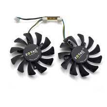 Apistek 75mm GA81S2U DC 12V 0.38A 4Pin ventilador de 40x40x40MM para gamerock Premium Edition GTX 970 tarjeta de gráficos de Video Fans(China)