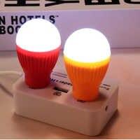 USB Led-lampe Buch Licht Tragbare Lese Energiesparende Led-lampen für Notebook Mobile Power Notfall Licht Gelegentliche Farbe USB lampe