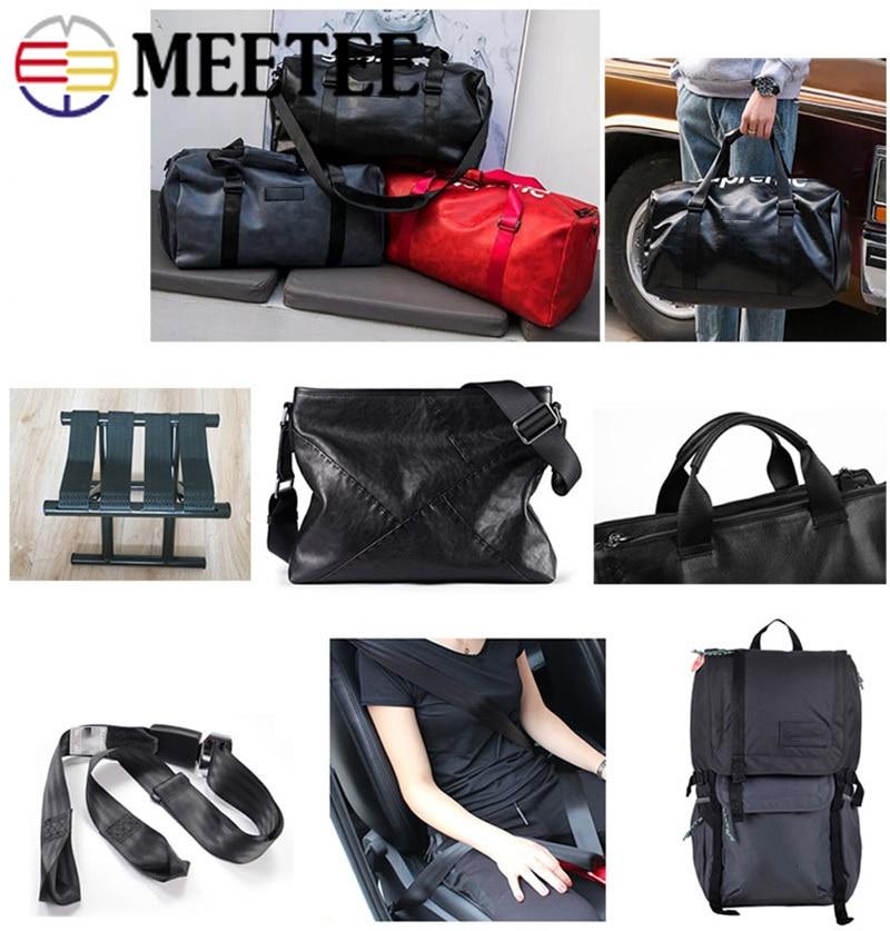 Meetee 5meter 25 32 38 50mm Nylon Black Webbing Tape Herringbone Pattern DIY Backpack Strap Seat Belt Sewing Accessories RD002 in Webbing from Home Garden