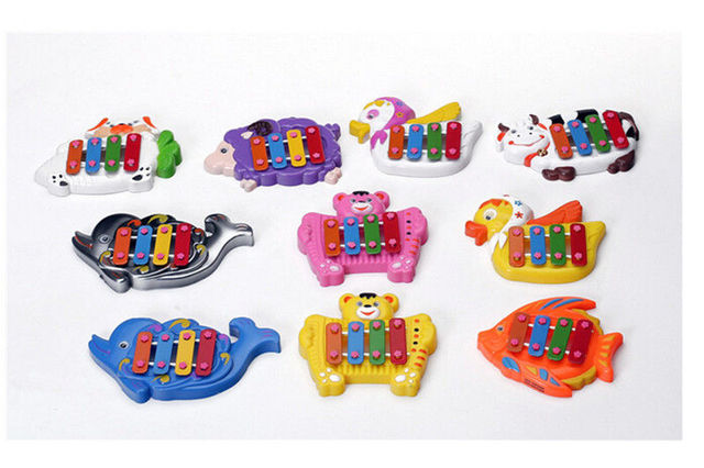 1Pc Baby Musical Educational Animal Developmental Music Bell Toy Farm Piano Toy Kids 4 Tone Gift Toys for Children Random send