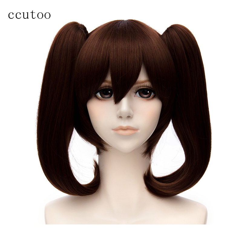 Ccutoo The Seven Deadly Sins Diane Cosplay Wigs Brown Double Removable Chip Ponytails Heat Resistant Synthetic Hair