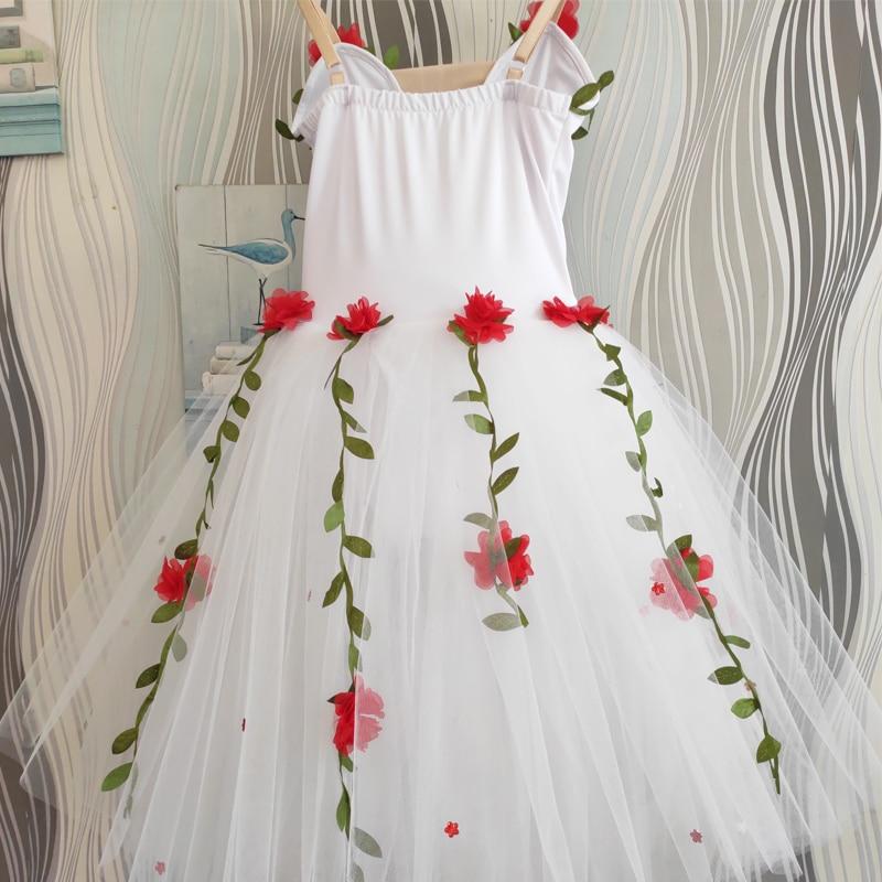 Профессиональная балетная юбка-пачка для девочек с белыми цветами балетное платье для девушки, дети, ребенок, платье балерины, детское Танцевальный костюм