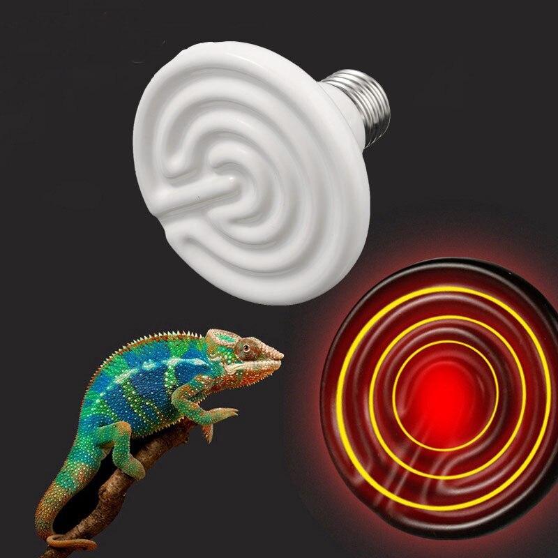 Pets Infrared Ceramic Emitter Heat Light Bulb Lamp Bulbs E27 Lighting 25/40/50/60/75/100/150W for Reptile Pet Brooder 110/220V