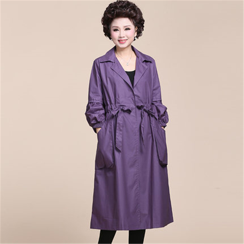 2019 Spring Autumn New Women's   Trench   Coat Belt Loose Windbreaker Middle year Long Warm Raincoat Overcoat Clothes Big Size FC129