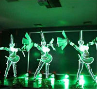 LED luminous Western style clothes for performance/business suit/EL suits/light with leds
