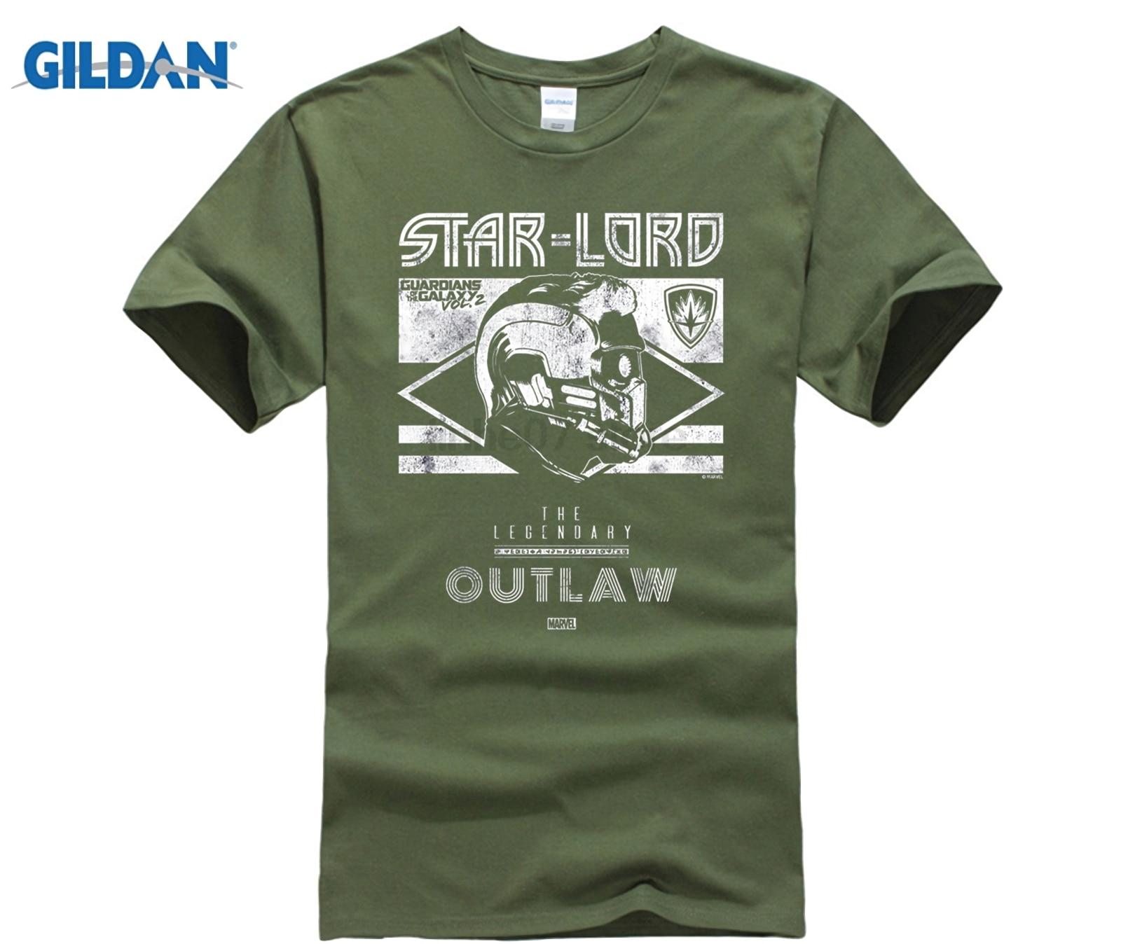 GILDAN Star-Lord Guardians of Galaxy 2 Legend Graphic Shirt Dress female T-shirt