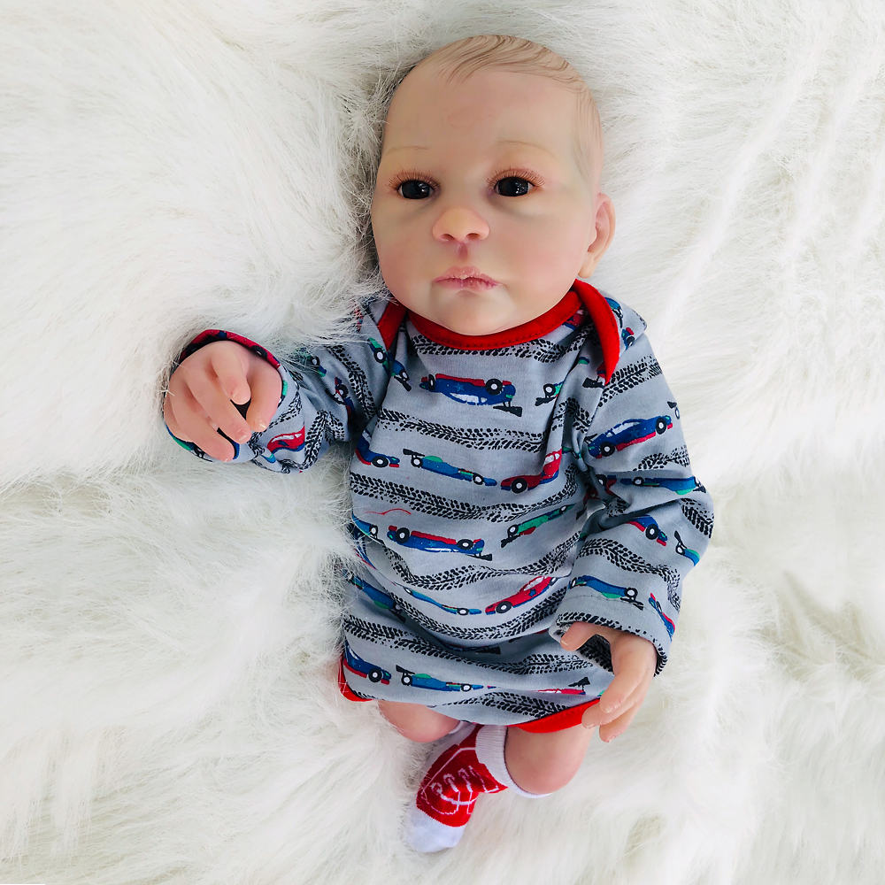 46cm Soft Silicone Reborn Dolls reborn-baby collectible Dolls modeling real reborn sleeping Kids vinyl newborn bebe Xmas gifts46cm Soft Silicone Reborn Dolls reborn-baby collectible Dolls modeling real reborn sleeping Kids vinyl newborn bebe Xmas gifts