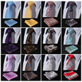 "Efb Paisley Floral 2.75 "" 100% seda tejida flacos delgados Narrow hombres corbata del lazo pañuelo pañuelo pañuelo Set Suit"