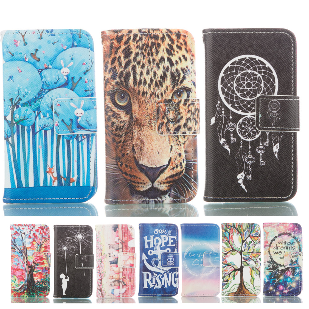 Galleria fotografica Etui Cases For Samsung Galaxy S4 mini & i9190 Phone Leather Case Fashion Wallet Style Flip Stand Holder Cover For Galaxy S4mini