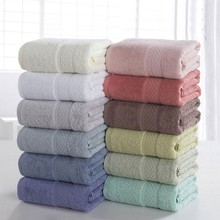 High quality 100% Cotton Absorbent Bath Towel  Beach For Fast Drying Soft 17 Colors Thick Antibacterial size 70*140CM