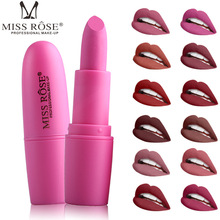 Фотография MISS ROSE Matte Moisturizing Lipstick Makeup Lipsticks Lip Stick Waterproof Lipgloss Mate Lipsticks Cosmetic Batom Liquido Matt