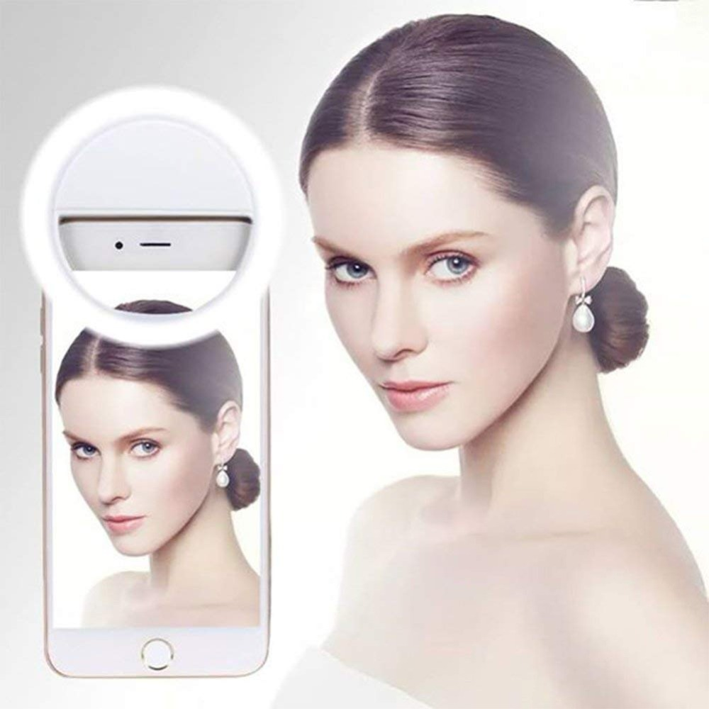 Duszake Selfie Ring Light Led Portable Phone Lamp Flash Smartphone Ring Light USB Camera Phone Lamp For IPhone X 6s 7 Samsung S8