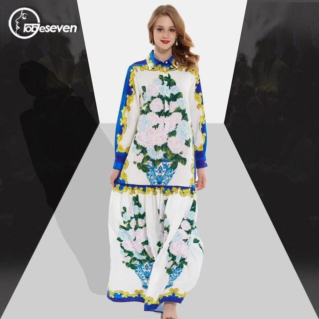 2f3822524 2017 Runway Europeo Moda Mujeres Ropa vestidos largos de verano de Alta  Calidad de Impresión ocasional