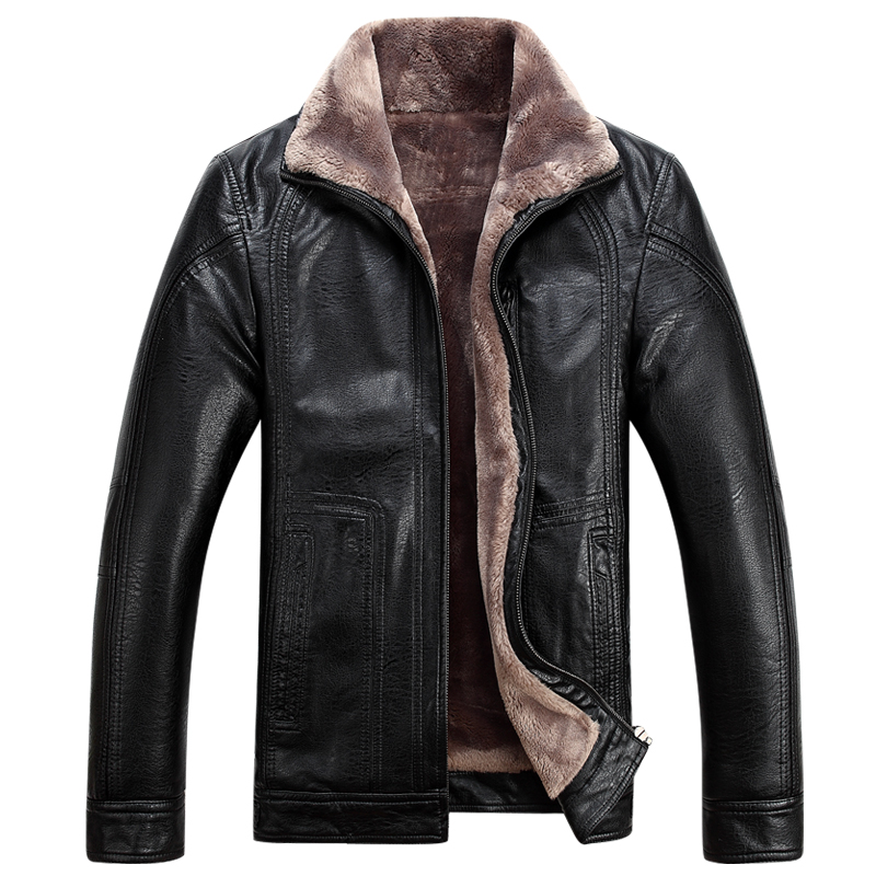 Winter leather jackets Men Faux Fur Coats male casual ...