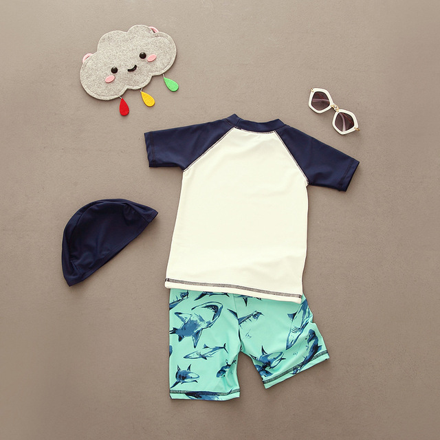 Professional Children Two-Piece Beach Swimsuit for Boys