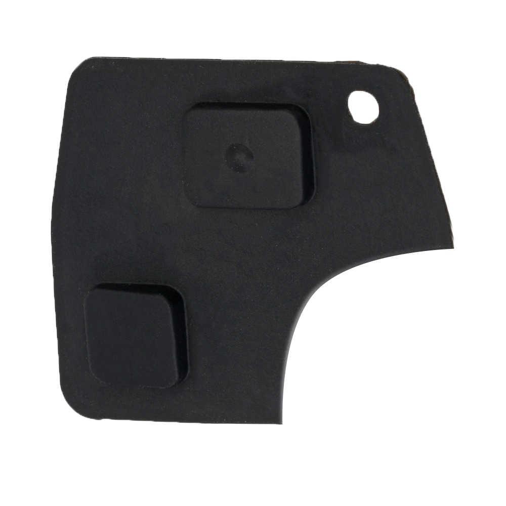 2 кнопки Замена дистанционного брелока Ремонтный комплект переключатель резиновая накладка для Toyota RAV4 Corolla Camry Prado черный D05